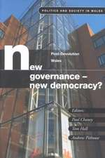 New Governance, New Democracy?: Post Devolution in Wales