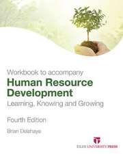 Human Resource Development:  Student Activity Guide