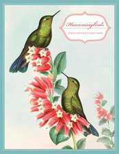 """Hummingbirds Keepsake Boxed Notecards [With 16 4-1/4 X 5-1/2"""" Note Cards and 17 Slate-Blue Envelopes]"""