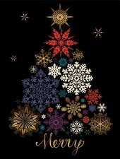 Festive Snow Tree Large Embellished Holiday Notecards