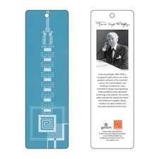 Semn de carte Frank Lloyd Wright Taliesin West Gate (albastru)