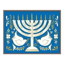 Hanukkah Menorah Large Embellished