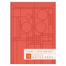 Frank Lloyd Wright Bright Geometric Debossed Notecards