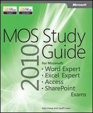 Mos 2010 Study Guide for Microsoft Word Expert, Excel Expert, Access, and Sharepoint Exams:  Configuring Windows 7