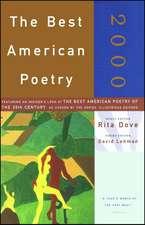 The Best American Poetry 2000