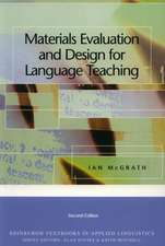 Materials Evaluation and Design for Language Teaching