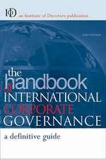The Handbook of International Corporate Governance