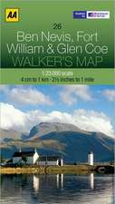 Ben Nevis, Fort William & Glen Coe Walker's Map