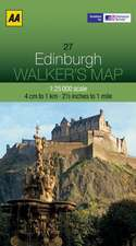 AA Edinburgh Walker's Map:  Edinburgh & the Pentland Hills