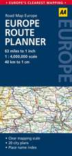 Road Map Europe Route Planner:  France, Belgium & the Netherlands