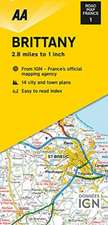 AA BRITTANY TOURING MAP