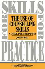Use of Counselling Skills: Guide for Therapy