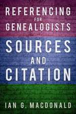 Referencing for Genealogists
