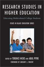Research Studies in Higher Education