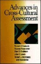 Advances in Cross-Cultural Assessment