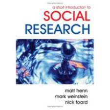 A Short Introduction to Social Research