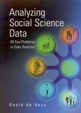 Analyzing Social Science Data: 50 Key Problems in Data Analysis
