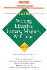 Writing Effective Letters, Memos, and E-mail:  Series 7