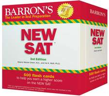 Barron's NEW SAT Flash Cards: 500 Flash Cards to Help You Achieve a Higher Score