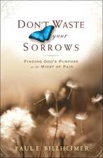 Don't Waste Your Sorrows:  Finding God's Purpose in the Midst of Pain