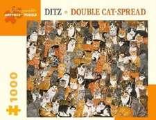 Ditz Double Cat-Spread 1000 Piece Jigsaw Puzzle
