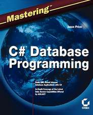 Mastering C# Database Programming:  Sun Certified System Administrator Study Guide [With CDROM]