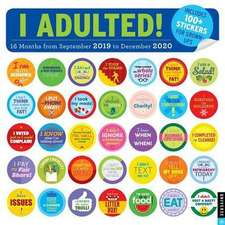 I ADULTED 20192020 16MONTH SQUARE WALL C