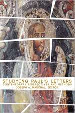 Studying Pauls Letters:  Contemporary Perspectives and Methods