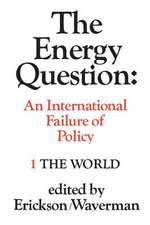 The Energy Question Volume One