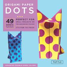 """Origami Paper - Dots - 6 3/4"""" - 49 Sheets: Tuttle Origami Paper: High-Quality Origami Sheets Printed with 8 Different Patterns: Instructions for 6 Projects Included"""
