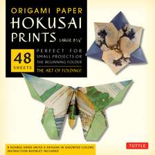 """Origami Paper - Hokusai Prints - Large 8 1/4"""" - 48 Sheets: Tuttle Origami Paper: High-Quality Double-Sided Origami Sheets Printed with 8 Different Designs (Instructions for 6 Projects Included)"""