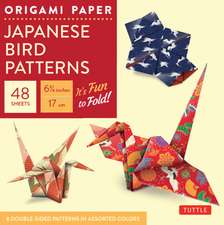 """Origami Paper - Japanese Bird Patterns - 6 3/4"""" - 48 Sheets: Tuttle Origami Paper: High-Quality Origami Sheets Printed with 8 Different Patterns: Instructions for 7 Projects Included"""