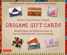 Origami Gift Cards Kit: Beautiful Papers and Folding Instructions for Over 20 Hand-folded  Note Cards and Envelopes (36 Sheets in 12 Patterns & Color Book)
