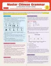 Mandarin Chinese Grammar Language Study Card