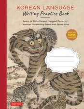 Korean Language Writing Practice Book