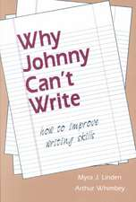 Why Johnny Can't Write P