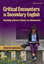 Critical Encounters in Secondary English:  Critical Encounters in Secondary English