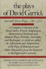 The Plays of David Garrick, Volume 2: Garrick's Own Plays, 1767 - 1775