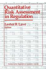 Quantitative Risk Assessment in Regulation