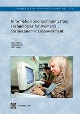 Information and Communication Technologies for Women's Socioeconomic Empowerment