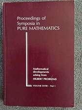 Mathematical Developments Arising from Hilbert Problems