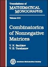 Combinatorics of Nonnegative Matrices