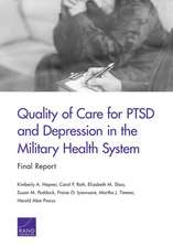 QUALITY OF CARE FOR PTSD AMP DEPPB