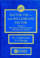 Factor VIII - Von Willebrand Factor, Volume I:  Biochemical, Methodological, and Functional Aspects