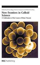 New Frontiers in Colloid Science:  A Celebration of the Career of Brian Vincent