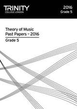Theory of Music Past Papers 2016 - Grade 5