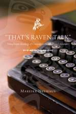 """That's Raven Talk"": Holophrastic Readings of Contemporary Indigenous Literatures"