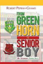 From Greenhorn to Senior Boy My Secondary School Days