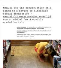 Manual for the Construction of a Sound/Manual for Konstruksjon AV En Lyd