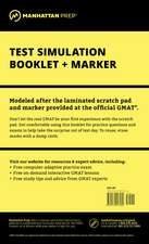 Manhattan GMAT Test Simulation Booklet w/ Marker